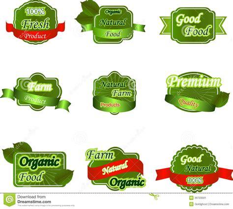 set  natural premium fresh labels stock vector image