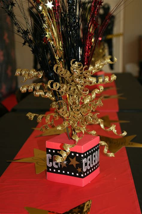 red carpet party centerpieces hollywood