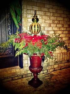 Outdoor, Christmas, Urn