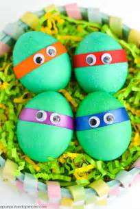Character Decorated Eggs by Dyed Ninja Turtles Easter Eggs A Pumpkin And A Princess