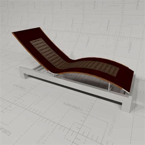 chaise dwg chaise lounge 3d model formfonts 3d models textures