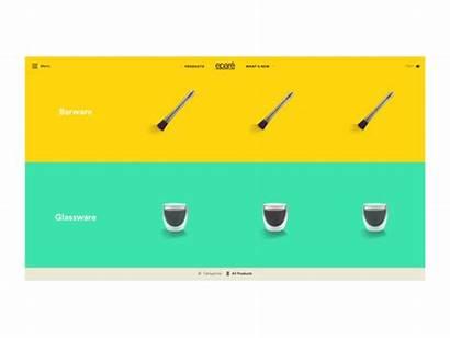 Selector Ui Commerce Animation Dribbble Split Screen