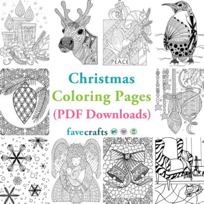 christmas coloring pages  downloads favecraftscom
