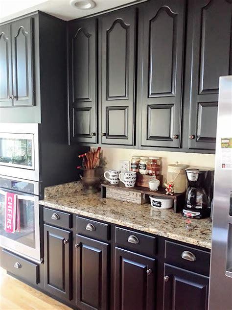 kitchen revitalization  lamp black general finishes