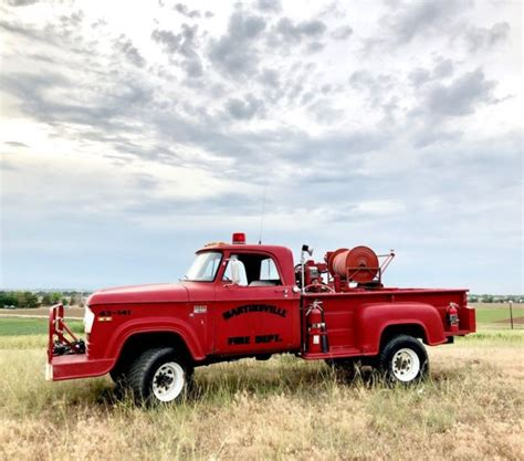 It will be sold with bill of sale. RARE 1970 Dodge W300 POWER WAGON Fire Truck - 26k Miles ...