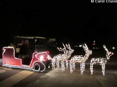 golf cart sleigh  reindeer golf cart ideas