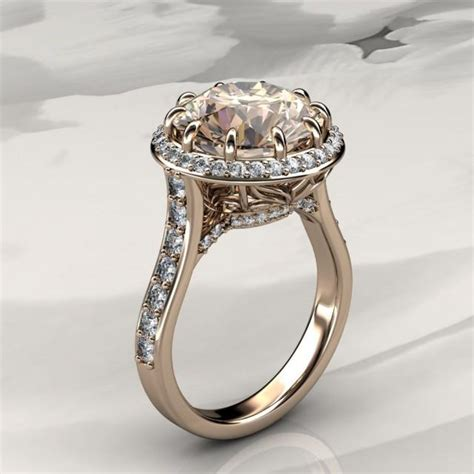 morganite halo engagement ring with diamonds in rose gold halo engagement ring available in