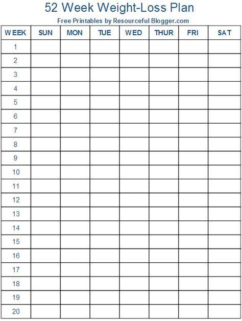 week weight loss plan weight loss chart printable
