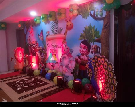 kanmani themed birthday decoration   hotel subha