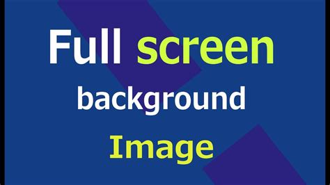 full screen background image  html  css web zone