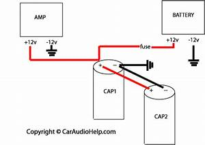 wiring amps and a capacitor car audio diymobileaudio With re audio amps