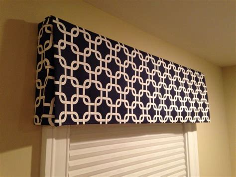 how to make a valance diy box valance no sew around the house pinterest