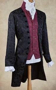 Viktorianischer Stil Kleidung : viktorianischer gehrock mit brokatmuster viktorianische kleidung m nner bei voodoomaniacs ~ Watch28wear.com Haus und Dekorationen
