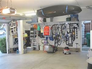 Garage Organization Bike Hooks Shelves Combined With