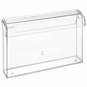 Plastikbox Mit Deckel Groß : din a4 prospektbox wetterfest quer ~ Markanthonyermac.com Haus und Dekorationen