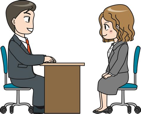 Clipart - Interview