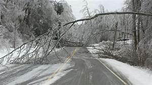 Power Poles Snap  Trees Sag In Tennessee Ice Storm