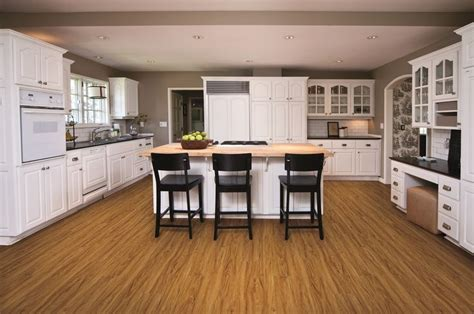kitchen floor vinyl coretec one adelaide walnut 100 waterproof floor 1685