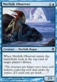 Mtg Merfolk Deck Tapped Out by Merfolk Observer Eldrazi Mtg Card