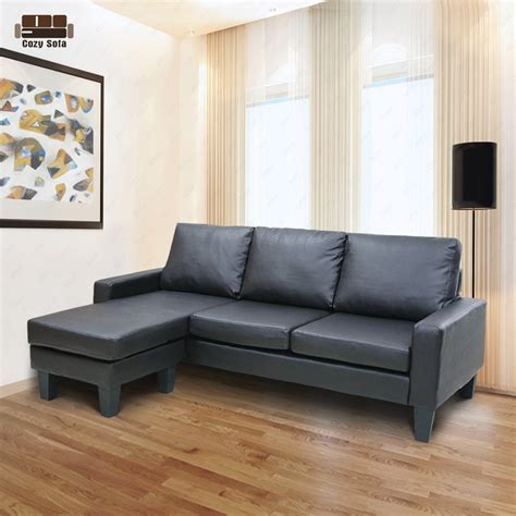 settee chaise reversible corner sectional sofa leather loveseat lounge