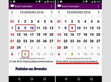 Feriados 2016 como usar o app Brasil Calendário e