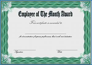 Service Certificate Template For Employees Free Printable Employee Of The Month Certificate Template