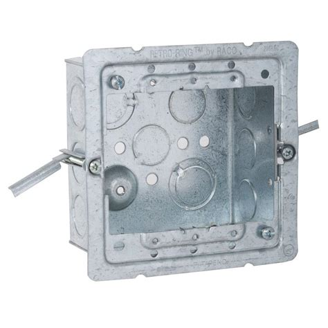 home depot ceiling raco 4 in square welded box 2 1 8 with work