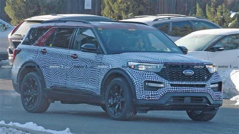 Ford St 2020 Motor Ausstattung by 2020 Ford Explorer St Spied Showing Its Sporty Cues
