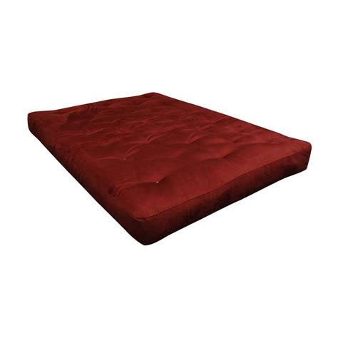 gold bond mattress gold bond king 8 in foam and cotton burgundy futon