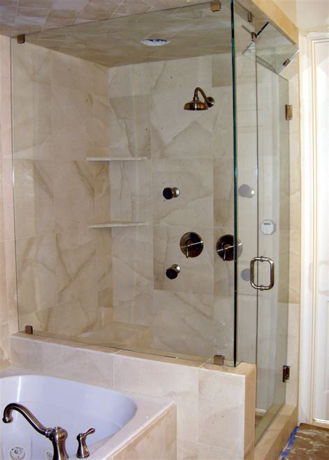 Shower Ideas For Bathroom by Shower Glass Panel For Contemporary Bathroom Styles