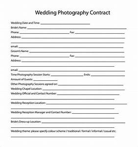 14 wedding photography contract templates to download With simple wedding photography contract