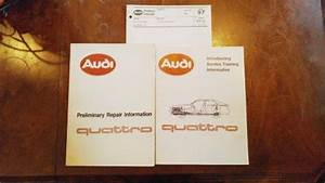 Sell Audi Ur Quattro Wiring Diagrams  Repair Info