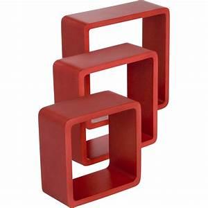 Cube De Rangement Leroy Merlin : etag re 3 cubes rouge rouge l 28 x p 28 l 24 x p 24 l ~ Dailycaller-alerts.com Idées de Décoration