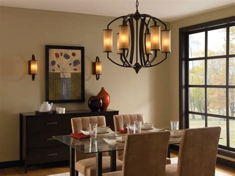rustic dining room lighting ideas murray feiss f2564 6pcn logan pecan 6 light chandelier