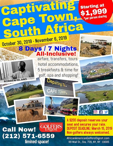 captivating cape town south africa golf trip african american