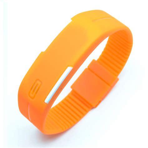 Jam Tangan Gelang Led Sporty Murah jam tangan led gelang sport no logo orange