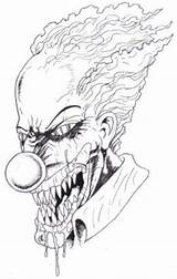 Scary Clown Halloween Drawing Draw Drawings Clowns Coloring Evil Face Adult Pennywise Pages Creepy Cool Horror Faces Easy Hubpages Waynet sketch template