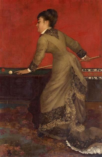 Stevens Alfred Billiards Elegant Billard Painting Woman