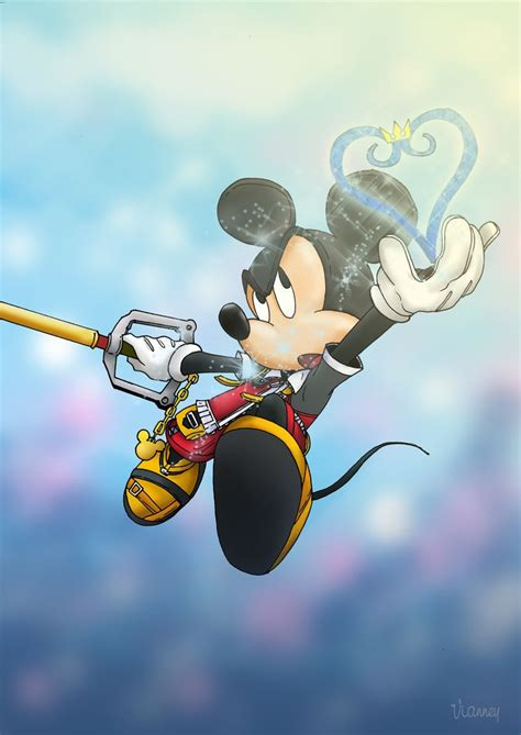 Fan Art De Mickey De Kingdom Hearts Disney Pinterest