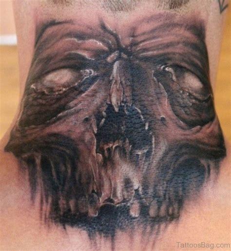 enchanting black  gray neck tattoos