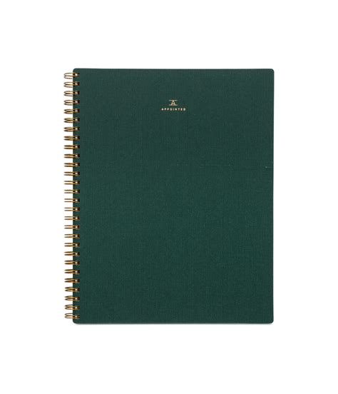 notebook green appointed