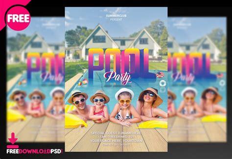 pool party flyer psd freedownloadpsdcom