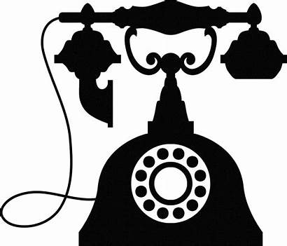 Telephone Antique Phone Clipart Silhouette Wall Drawing