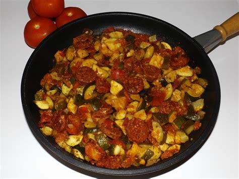 cuisine des courgettes poêlée de courgettes au chorizo blogs de cuisine