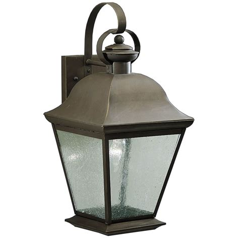 kichler 19 1 2 inch outdoor wall light with clear seeded