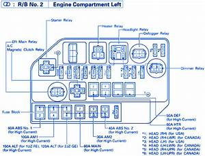 Lexus Sc-400 4 0l V8 1998 Fuse Box  Block Circuit Breaker Diagram