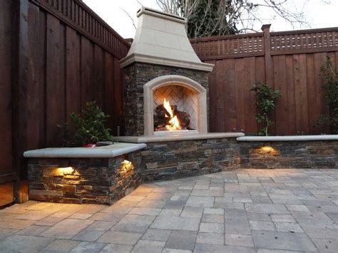 inspiring outdoor fireplaces plans photo 132 best images about my sloping backyard on