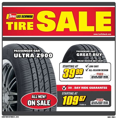 Les Schwab Tire Coupons and Rebates July 2018