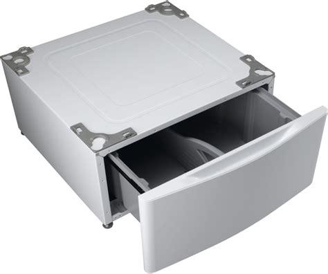 lg pedestal wdp4w lg wdp4w pedestal with drawer white
