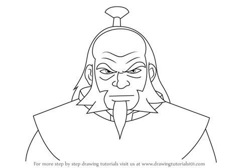 Learn How To Draw Iroh From Avatar The Last Airbender